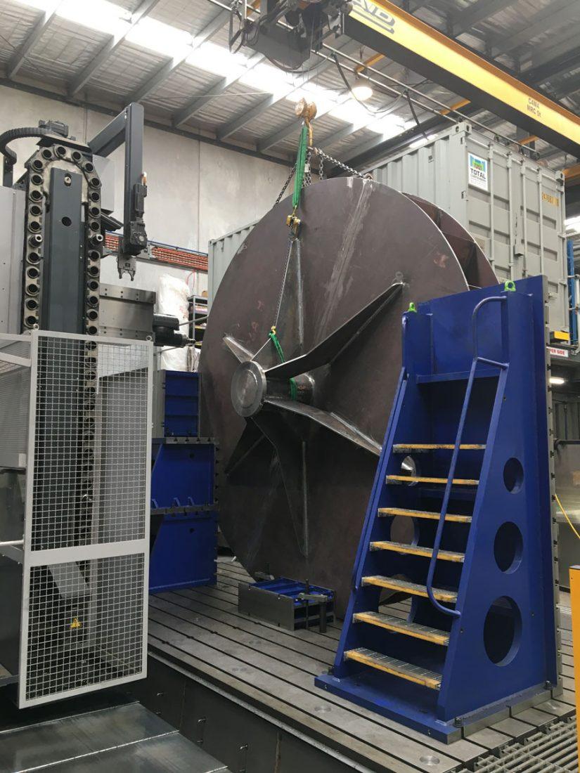 0595 Set Up Of 5000mm Dia Impeller